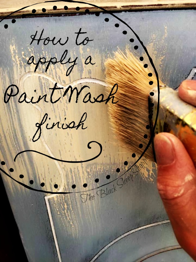 How to apply a paint wash finish.