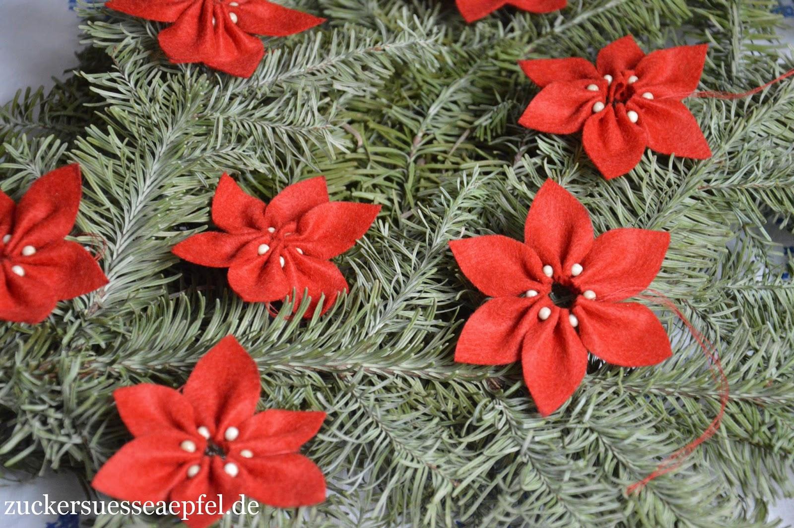 Eine Anleitung Für Weihnachtssterne Aus Filz Zuckersüße äpfel
