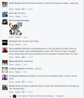 Komentar-komentar Foto Lelucon Terkait Pembunuhan Dosen Oleh Mahasiswa