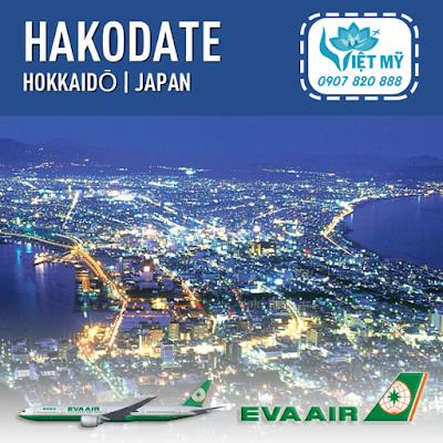 Vé máy bay đi Hakodate Nhật Bản hãng EVA Air