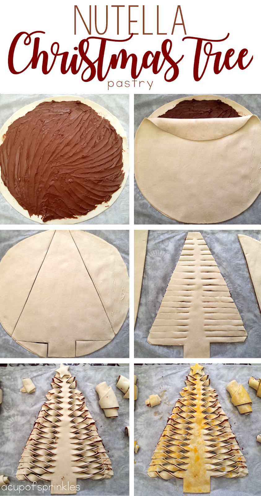 Nutella puff pastry dessert