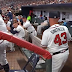 Brian Snitker hit in neck by foul ball