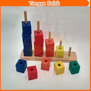 Tangga Balok Warna Mainan Murah