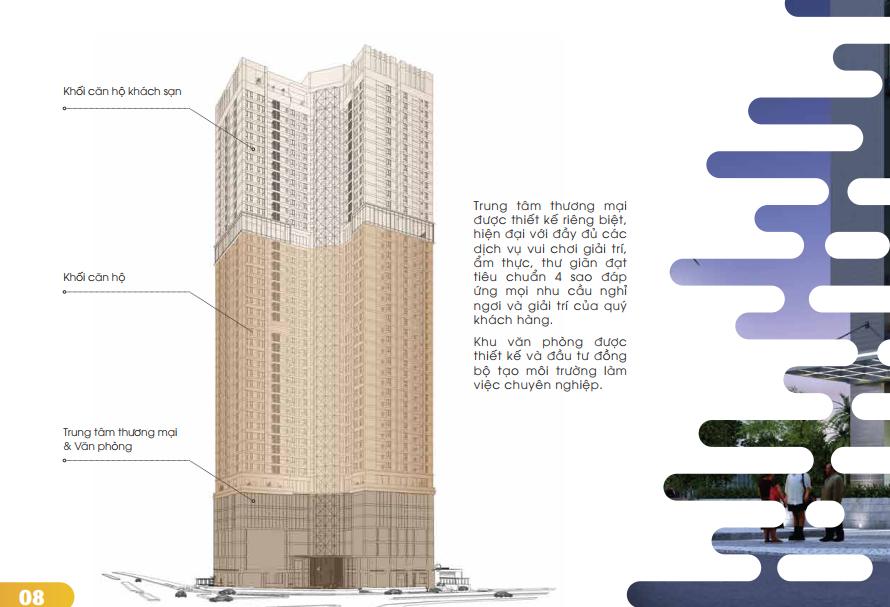 Bố trí công năng căn hộ tại Golden Park Tower