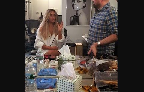 Kim Kardashian Back to Blonde