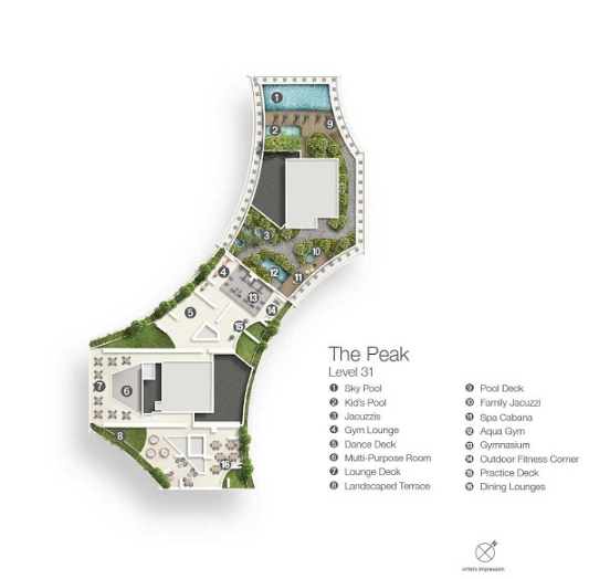 Duo Residences The Peak Level 31 Plan