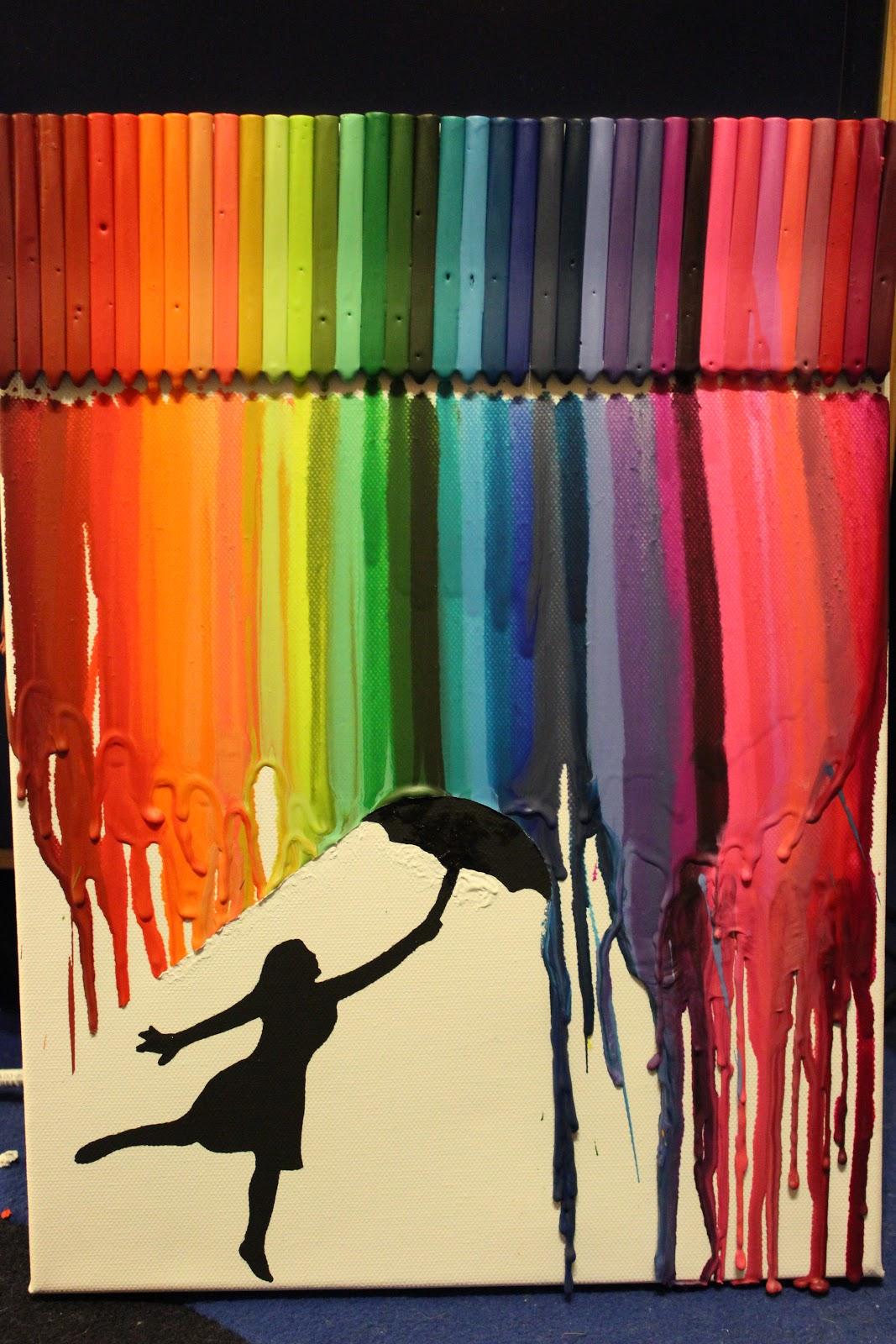 Geschichten Bilder Erfahrungen Crayons Art Woman In The Rain