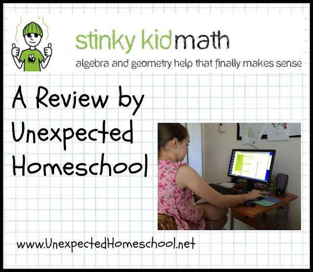 Unexpected Homeschool: Review of Stinky Kid Math - A unique online algebra & geometry website!