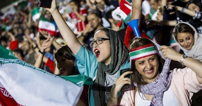 Women Permitted to watch football in Iranian stadiums for first time in 37 years