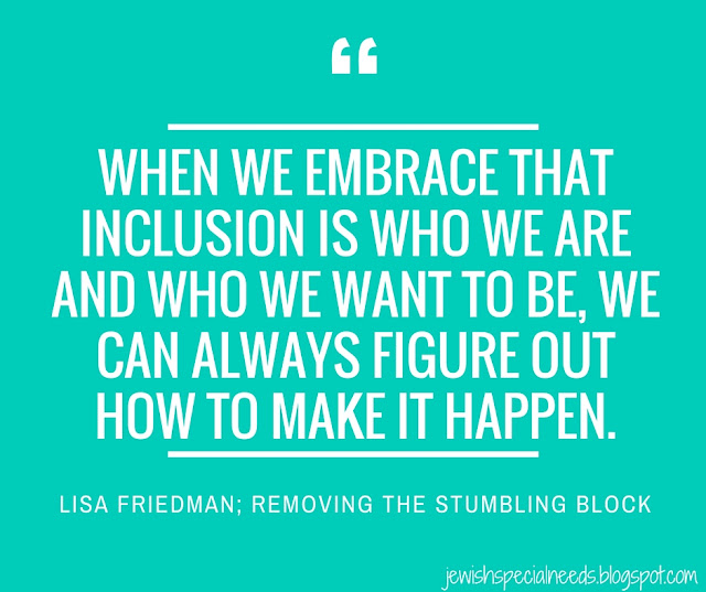 When we embrace inclusion; Removing the Stumbling Block