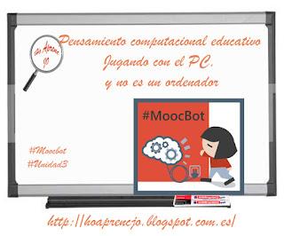 #estoyenlasredes, #hoaprencjoenxarxa, #MoocBot, gamificación, historia, Ho aprenc Jo, hoaprencjo, pensamiento computacional, Pensamiento
