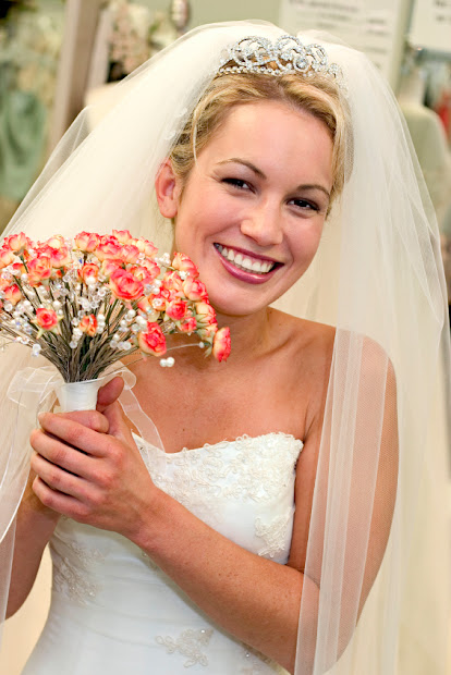 long wedding veils and tiaras