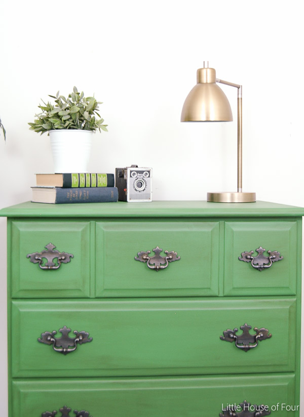 Painting a dresser emerald green