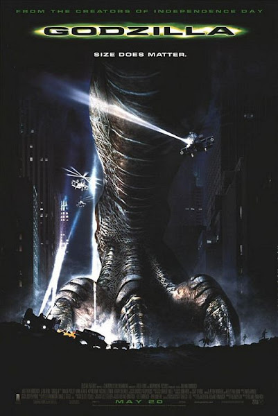 Poster Of Godzilla 1998 720p Hindi BRRip Dual Audio Full movie Download