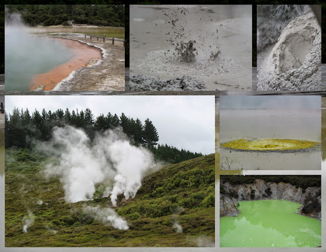 Geothermal Pools and Boiling Mud in Rotorua, New Zealand