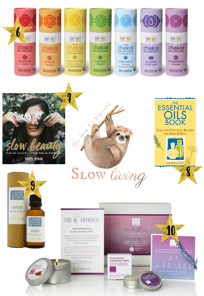 a holiday gift guide with mindfulness gifts for slow living