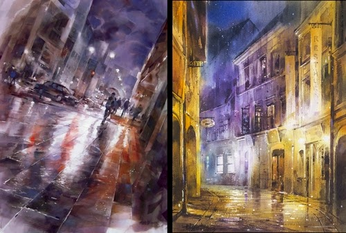00-Lin Ching-Che 林經哲-Dreamlike-Watercolor-Paintings-in-the-City-www-designstack-co