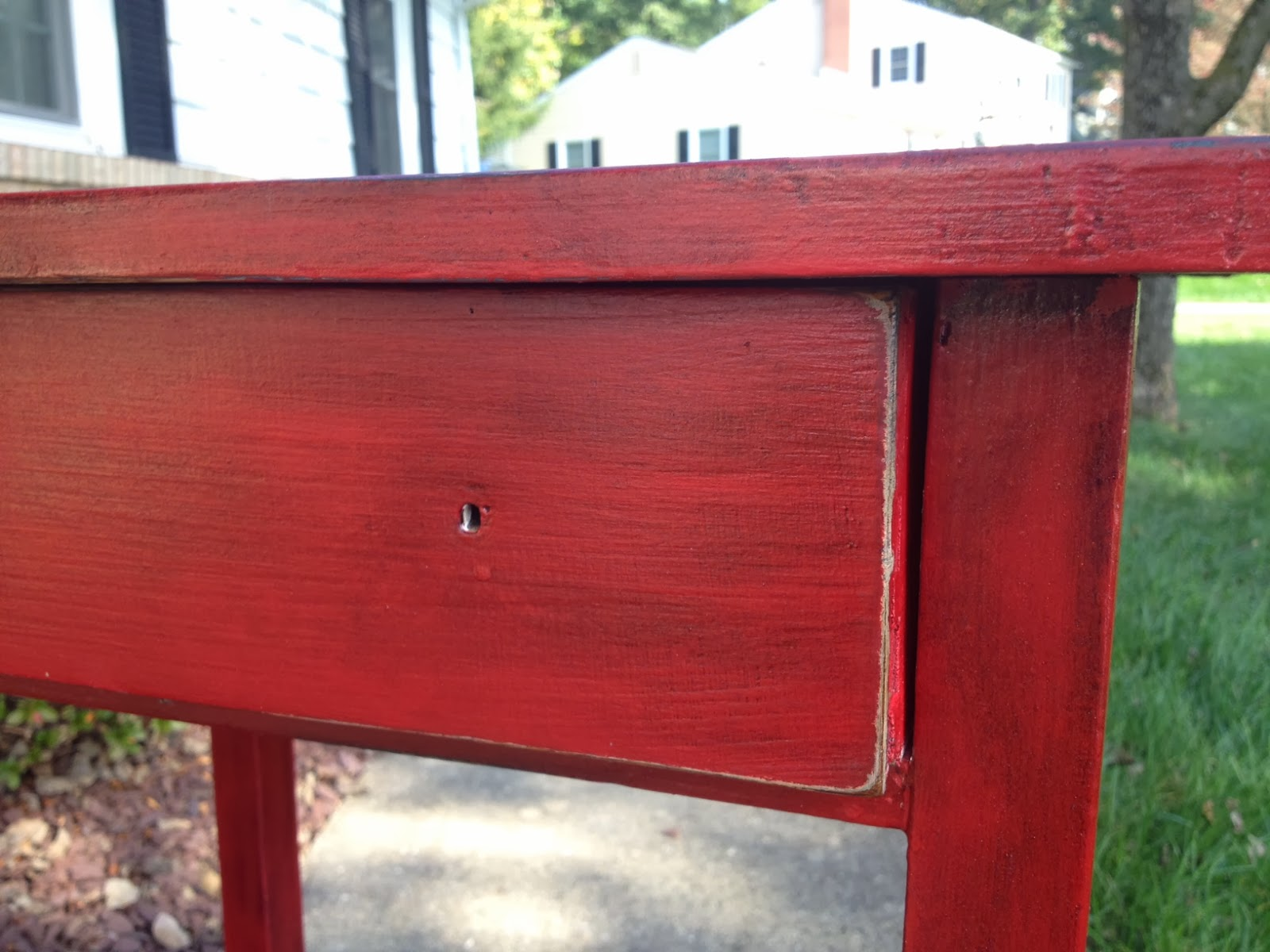 Two It Yourself: 'Antique' painted table using stain over ...