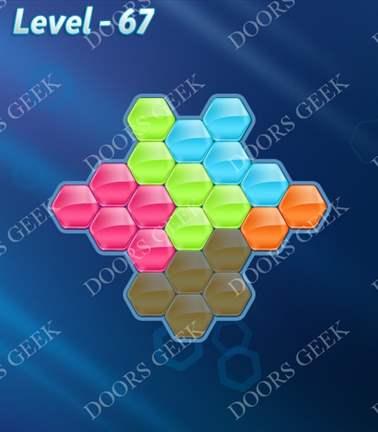 Block! Hexa Puzzle [Rainbow A] Level 67 Solution, Cheats, Walkthrough for android, iphone, ipad, ipod