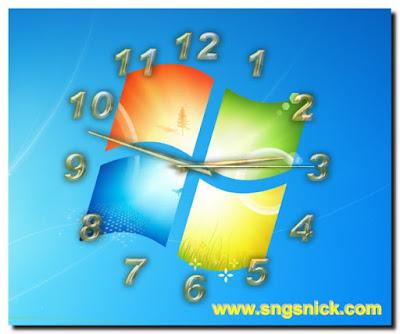 TheAeroClock 4.11 - Пример вида часов