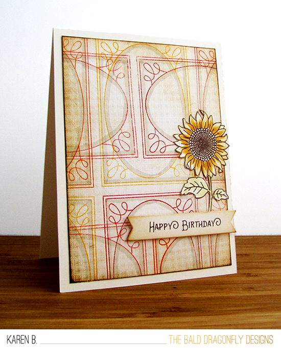 Inky Paws Challenge #37 | Plaid Floral card by Karen Baker | Garden Stamp sets by Newton's Nook Designs #newtonsnook