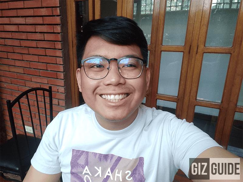 Well-lit indoor selfie