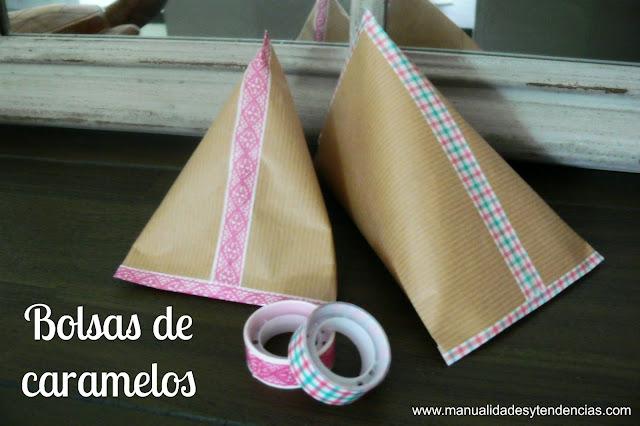 Bolsas de papel kraft para caramelos fáciles