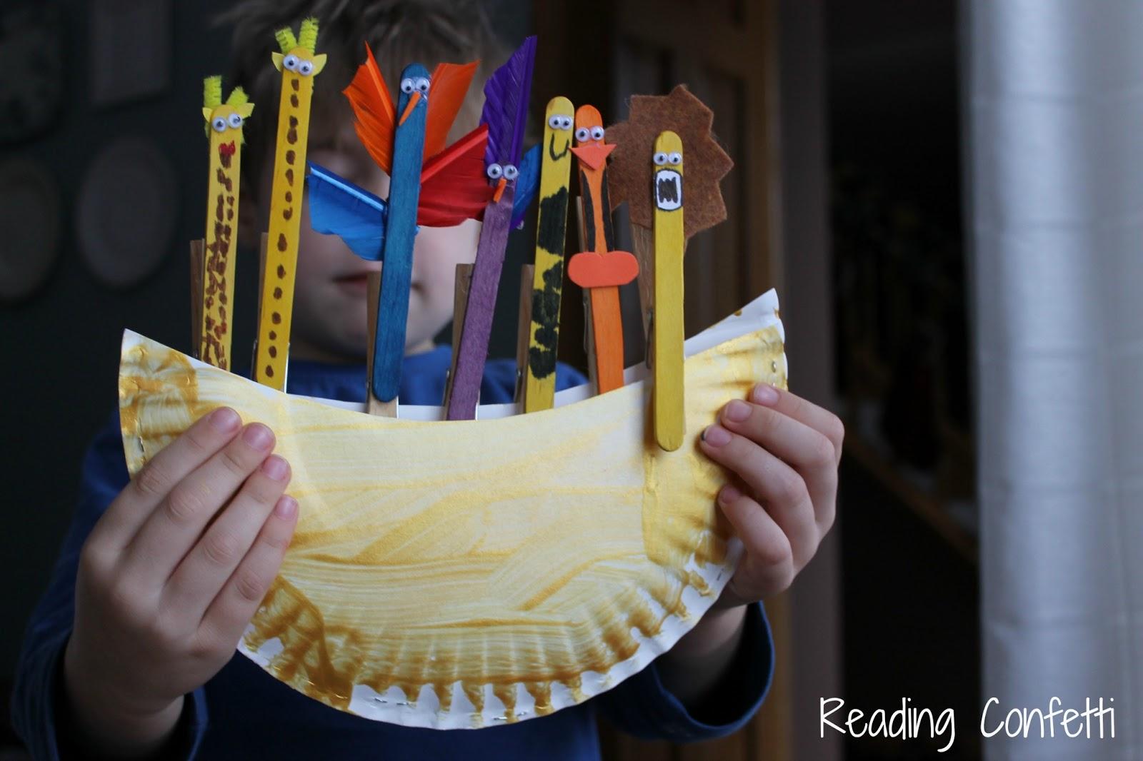 Noah S Ark Craft Kid S Virtual Book Club Reading Confetti