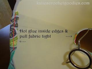 glue fabric to lamp shades