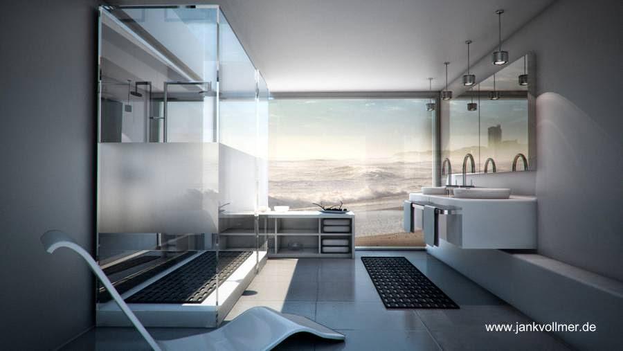 Arquitectura de casas dise os de ba os de casas for Banos modernos con jacuzzi y regadera