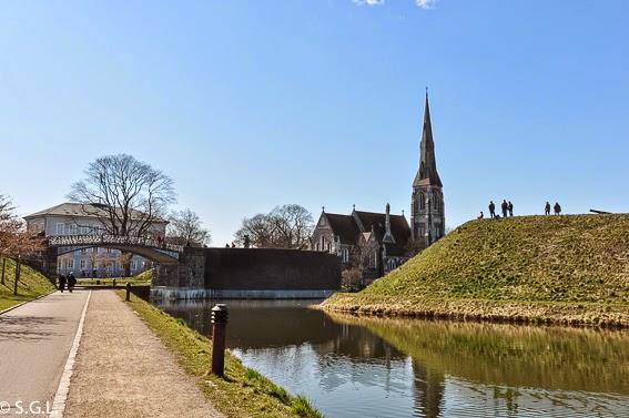 Vista de la ciudadela o Kstellet de Copenhague