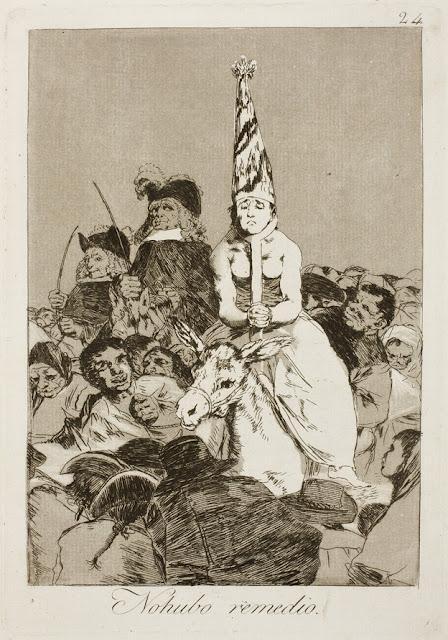 Goya Los Caprichos - No hubo remedio / There was no help