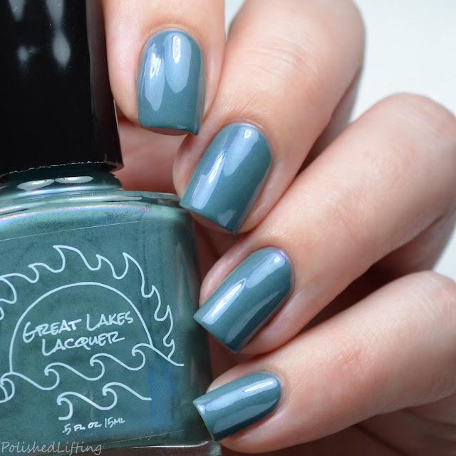 teal with shifting shimmer nail polish