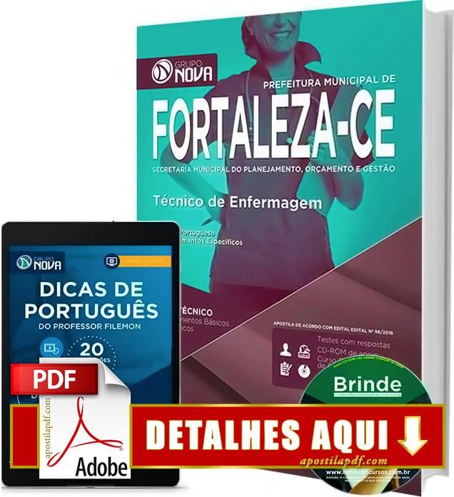 Apostila Prefeitura de Fortaleza 2016 Técnico de Enfermagem Impressa