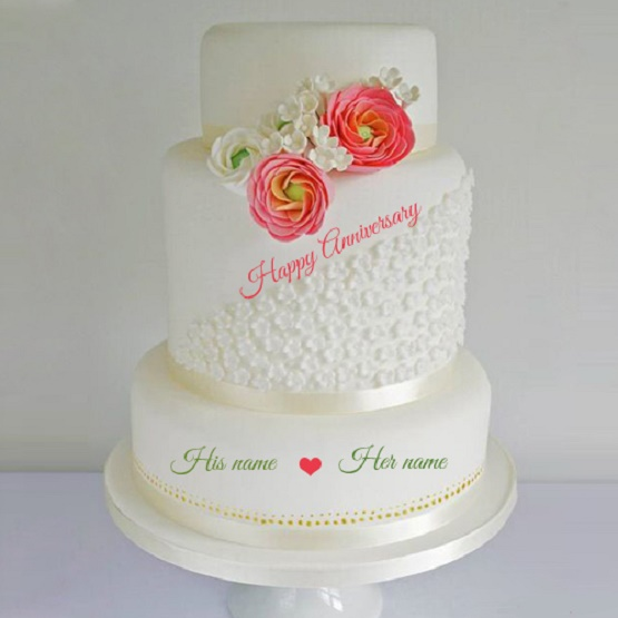 25th wedding anniversary cake ideas