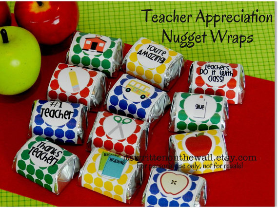 Sweet Hershey Candy with a Thanks Message for Teacher