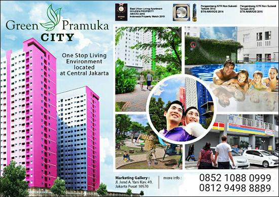 Apartemen Green Pramuka City di Jakarta Pusat