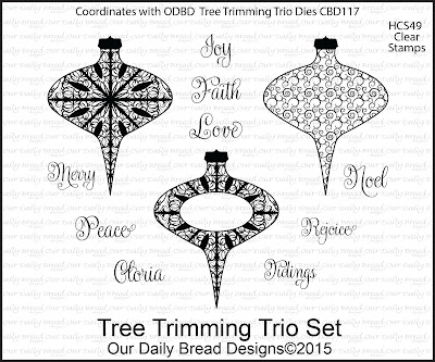 Our Daily Bread Designs Stamp set - Tree Trimming Trio