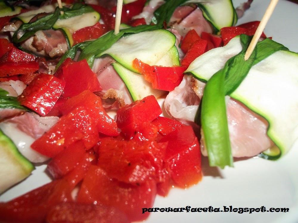 Roladki warzywno - szwarcwaldzkie z parowaru