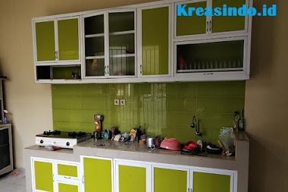 Jasa Kitchen Set Aluminium ACP Rangka Aluminium di Jakarta, Bogor, Depok, Tangerang, Bekasi, Bandung dan Cirebon
