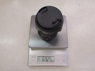 SIGMA 17-50mm F2.8 EX DC OS HSM [キヤノン用] レンズ重量