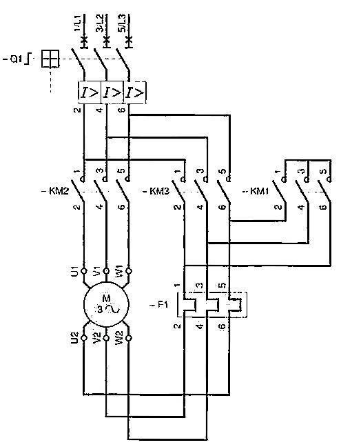 Of A Reversible Star Wye Delta Electric Motor Control Ckt Circuit
