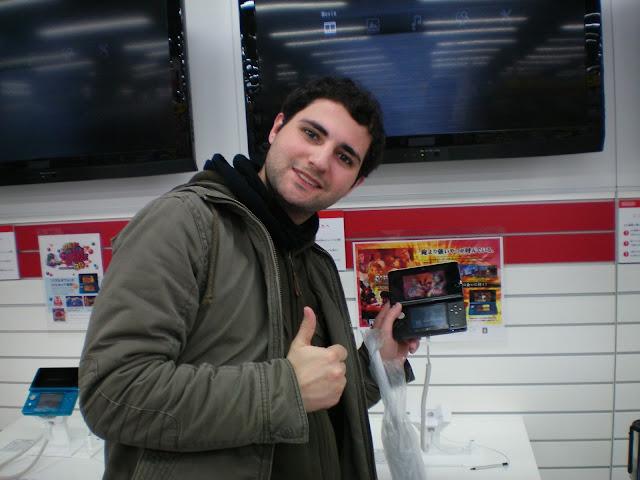 Nintendo 3ds en Kioto antes del lanzamiento