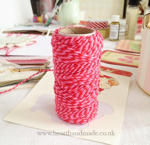 Red and Pink bakers twine from Not on the high street