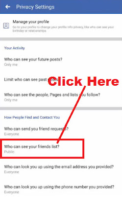 how to hide friends list on facebook from mobile phone