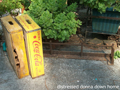 estate sales, vintage finds, Thermos, Aladdin, Coke crates