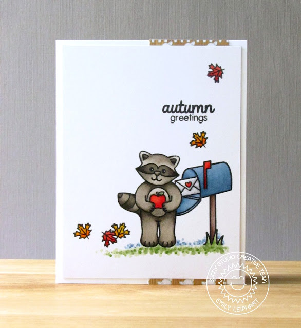 Sunny Studio Stamps:  Woodsy Creatures & Sending My Love Fall Card by Emily Leiphart