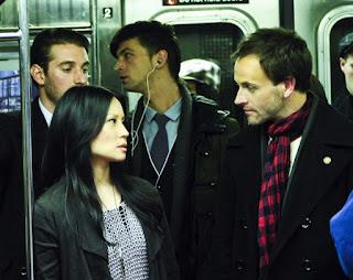 Jonny Lee Miller and Lucy Liu as Sherlock Holmes and Joan Watson in Elementary Pilot Episode