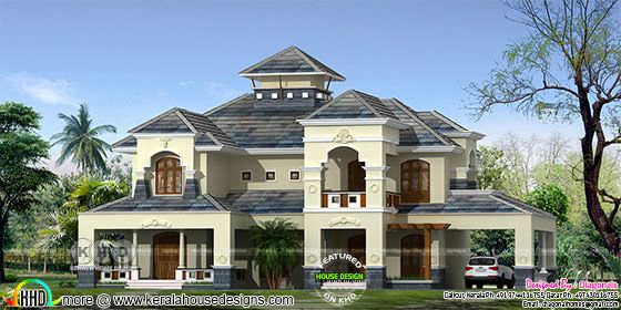 Residence in colonial style architecture with 4 bedrooms
