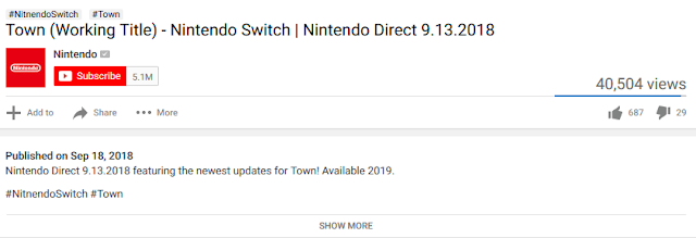 Town Nintendo Switch Direct trailer YouTube description typo GAME FREAK